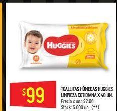 Oferta de Toallitas húmedas para bebé Huggies 48un  por $99