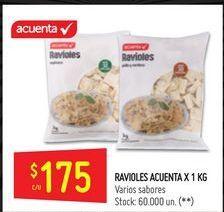 Oferta de Ravioles Acuenta 1kg  por $175