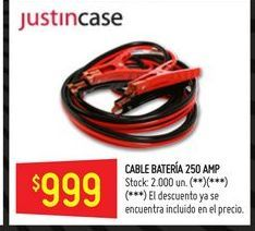 Oferta de Cable bateria 250amp  por $999