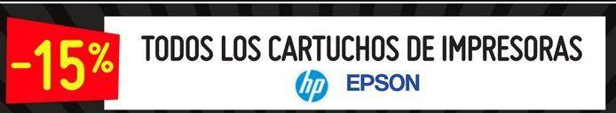 Oferta de Todos los cartiuchos de impresoras HP EPSON  por
