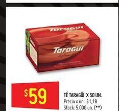Oferta de Te 50un  Taraguí por $59