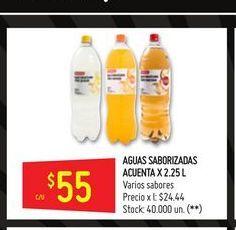Oferta de Agua con sabor Acuenta 2,25lt  por $55