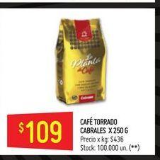Oferta de Cafe Cabrales torrado 250g  por $109