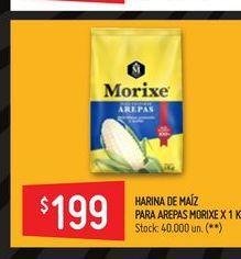 Oferta de Harina de maíz Morixe 1kg  por $199