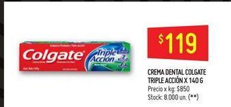 Oferta de Crema dental Colgate 140gr  por $119