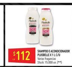 Oferta de Shampoo o acondicionador  Plusbelle 1l por $112