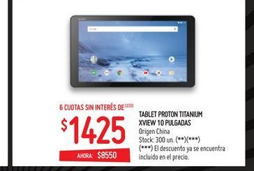 Oferta de Tablet 10'' XVIEW por $1425