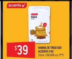 Oferta de Harina de trigo Acuenta 000 1kg  por $39