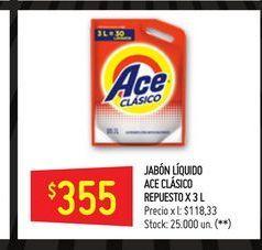 Oferta de Jabón líquido Ace 3l  por $355