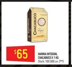 Oferta de Harina Chacabuco integral 1kg por $65