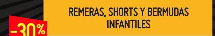 Oferta de Remeras,shorts y bermudas infantiles  por