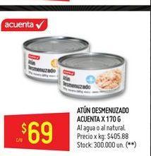 Oferta de Atún desmenuzado en aceite vegetal Acuenta 170g  por $69