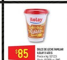 Oferta de Dulce de leche Ilolay familiar 400g  por $85