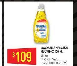 Oferta de Detergente lavavajillas Magistral 500ml  por $109