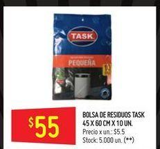 Oferta de Bolsa de residuos 10un  por $55