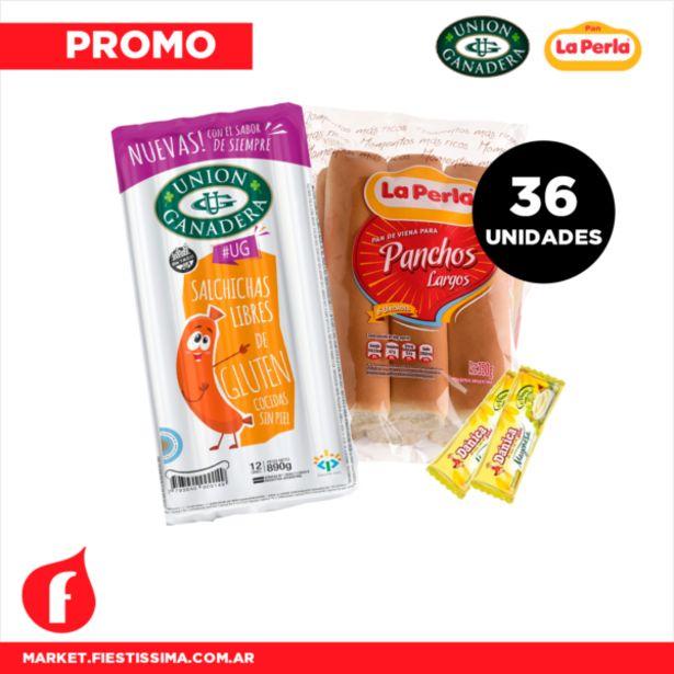 Oferta de [PROMO] 36 Super Panchos Unión Ganadera + Pan La Perla + 1 Aderezo por $1422,3