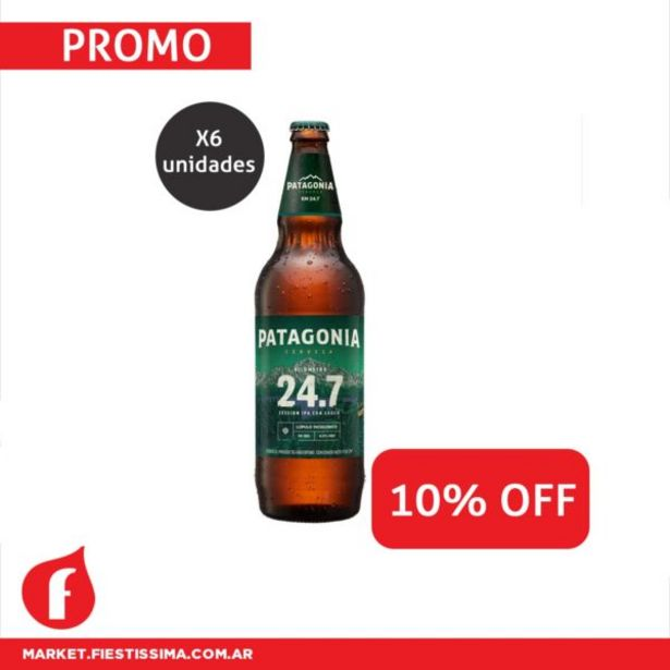 Oferta de [PROMO 18 B] 6 CERVEZAS PATAGONIA IPA 730 cc 10% OFF por $1301,4