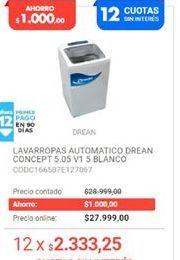 Oferta de Lavarropas Drean por $27999