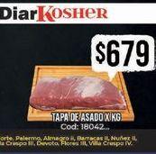 Oferta de Tapa de asado x kg  por $679