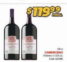 Oferta de Vino Caberceno 1125lt  por $119,99