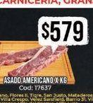 Oferta de Asado americano x kg  por $579