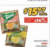 Oferta de Jugo en polvo Tang por $15,97