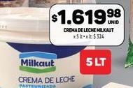 Oferta de Crema de leche Milkaut 5lt  por $1619,98