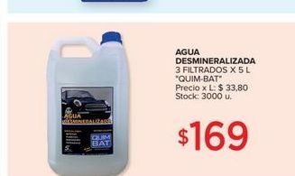 Oferta de Agua desmineralizada 5l  por $169