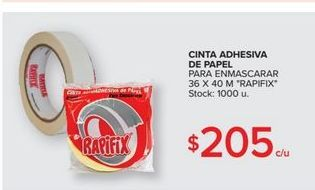 Oferta de Cinta adhesiva de papel 36x40m  por $205