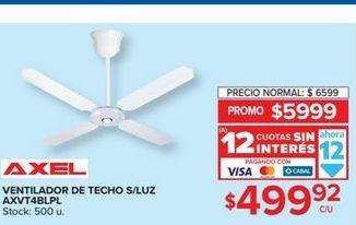 Oferta de Ventilador de techo s/luz  por $499,92
