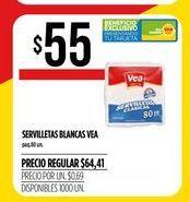 Oferta de Servilletas blancas Vea por $55