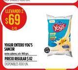 Oferta de Yogur Yogs Sancor  por $69