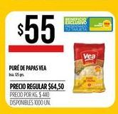 Oferta de Puré de papas Vea por $55