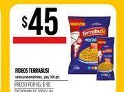Oferta de Fideos Terrabusi 500grs por $45