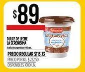 Oferta de Dulce de leche La Serenísima por $89