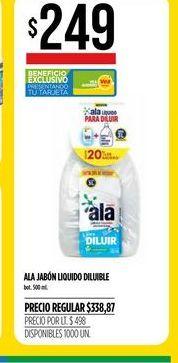 Oferta de Detergente líquido Ala 500ml  por $249