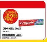 Oferta de Crema dental Colgate por $62,95