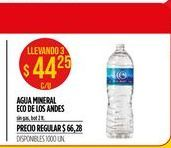 Oferta de Agua Eco de los Andes por $44,25