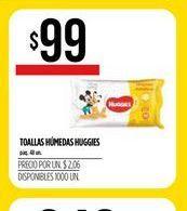 Oferta de Toallitas húmedas para bebé Huggies por $9