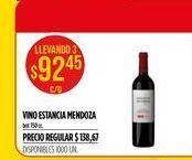 Oferta de Vino Estancia Mendoza por $92,45