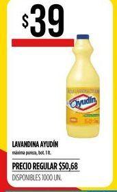 Oferta de Lavandina Ayudin 1lt  por $39