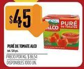 Oferta de Puré de tomate Alco 500grs  por $45