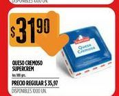 Oferta de Queso cremoso Supercrem por $31,9