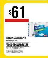 Oferta de Rollo de cocina Felpita por $61