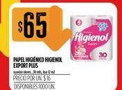 Oferta de Papel higiénico Higienol export plus  por $65