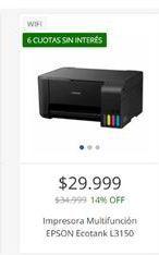 Oferta de Impresora multifunción Epson por $29999