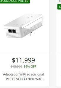 Oferta de Adaptador wifi ac adicional  por $11999