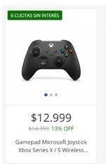 Oferta de Gamepad microsoft joystick xbox  por $12999
