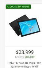 Oferta de Tablet Lenovo 10'' por $23999
