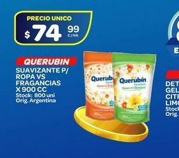 Oferta de Suavizante Querubin 900cc por $74,99